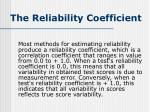 the reliability coefficient2