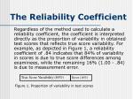 the reliability coefficient4