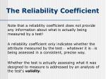the reliability coefficient5