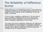 the reliability of difference scores1