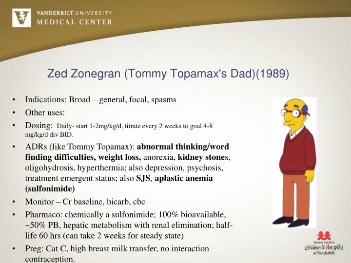 Zed Zonegran (Tommy Topamax's Dad)(1989)