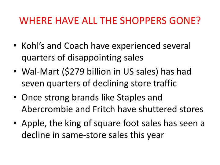 Where have all the shoppers gone2
