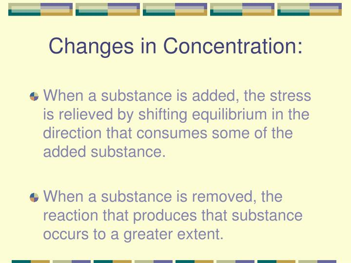 Changes in Concentration: