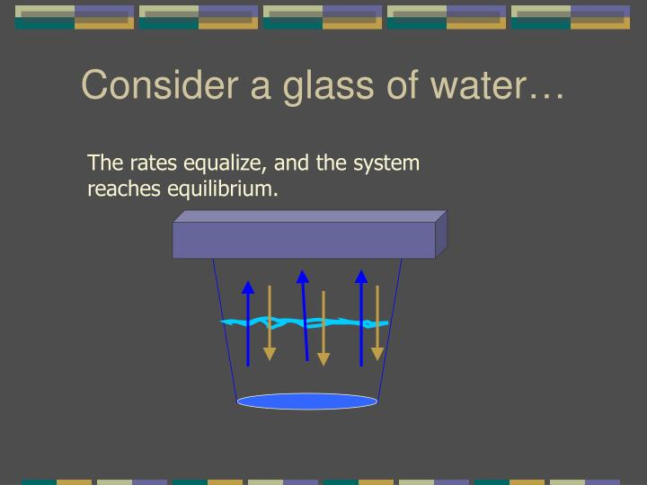 Consider a glass of water…
