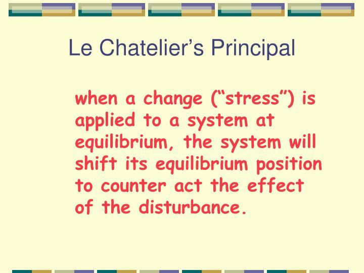 Le Chatelier's Principal