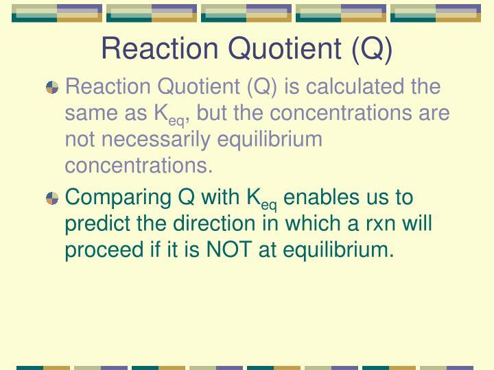 Reaction Quotient (Q)