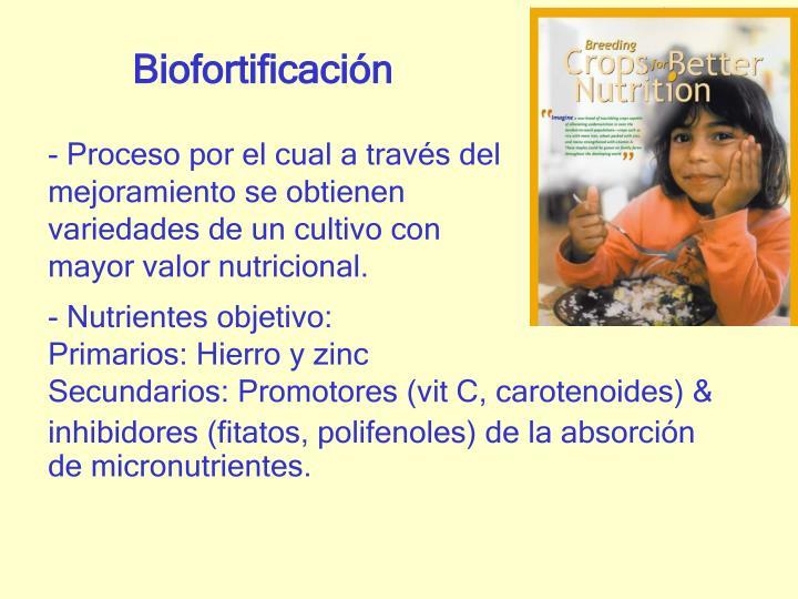 Biofortificación