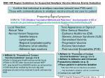 dmc nw region guidelines for suspected smallpox vaccine adverse events evaluation