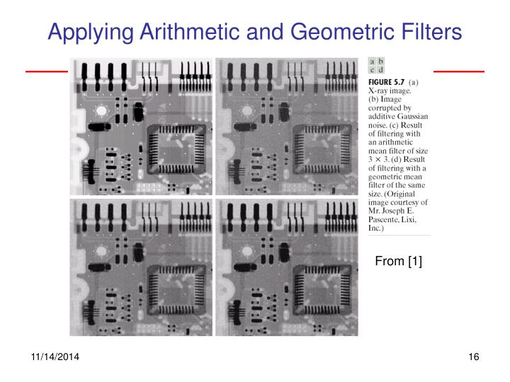 Applying Arithmetic and Geometric Filters
