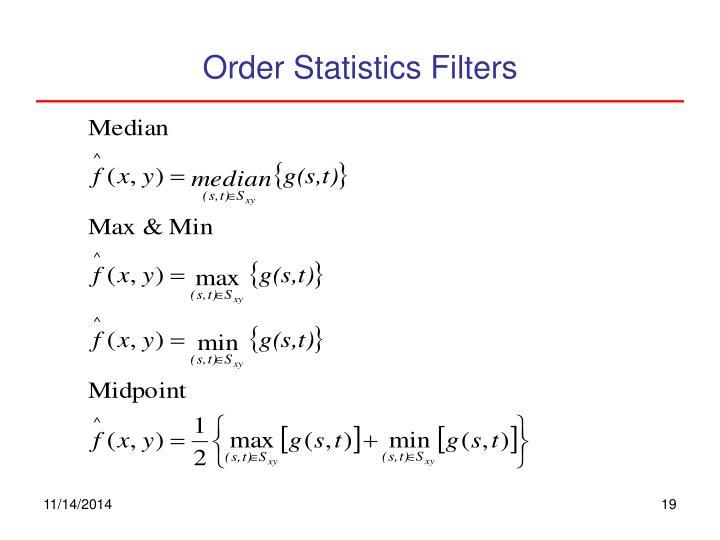 Order Statistics Filters