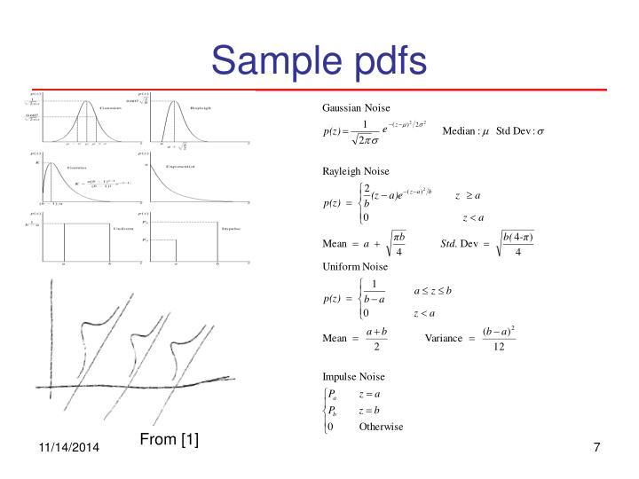 Sample pdfs