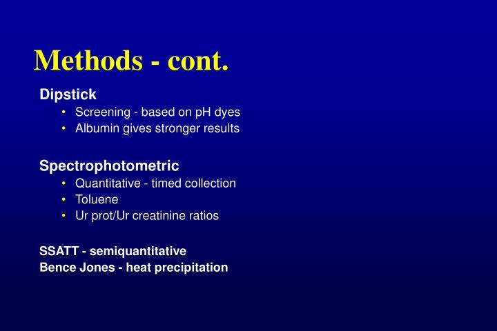 Methods - cont.