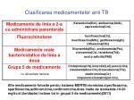 clasificarea medicamentelor anti tb