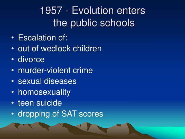 1957 - Evolution enters