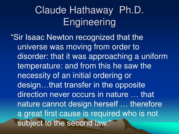 Claude Hathaway  Ph.D. Engineering