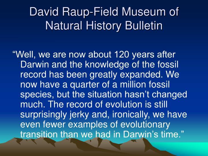 David Raup-Field Museum of Natural History Bulletin