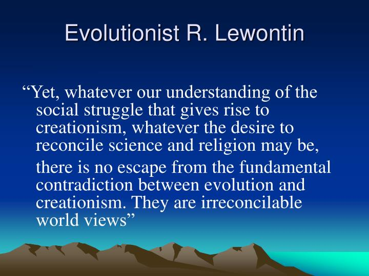 Evolutionist R. Lewontin