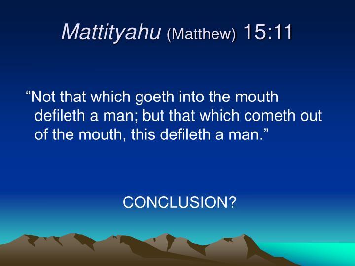 Mattityahu