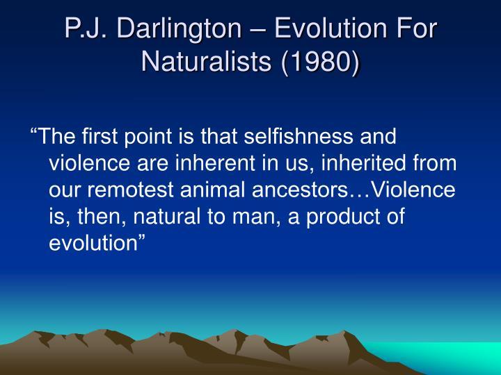 P.J. Darlington – Evolution For Naturalists (1980)