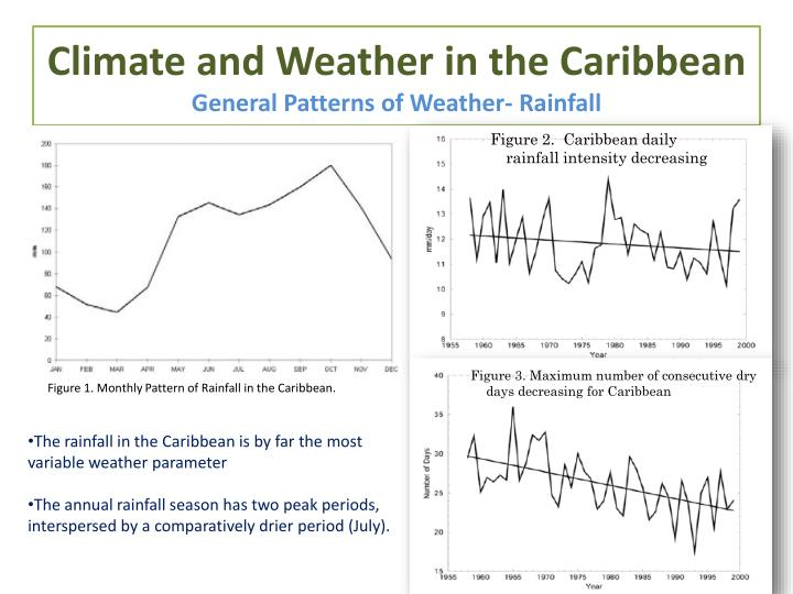 Climate and weather in the caribbean general patterns of weather rainfall
