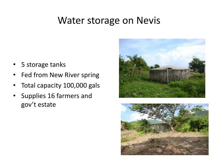 Water storage on Nevis