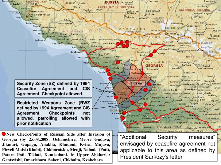 Security Zone (SZ) defined by 1994 Ceasefire Agreement and CIS Agreement. Checkpoint allowed