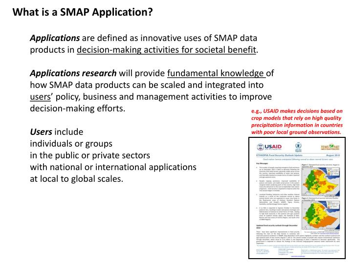 What is a SMAP Application?