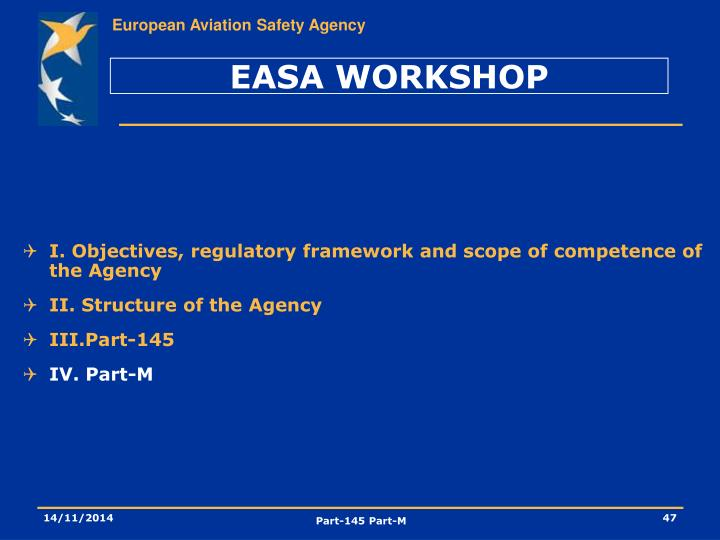 EASA WORKSHOP