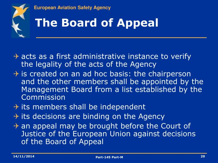The Board of Appeal