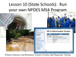 lesson 10 state schools run your own npdes ms4 program