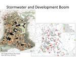 stormwater and development boom
