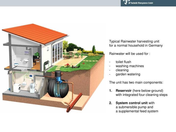 Typical Rainwater harvesting unit