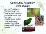 community assembly field studies
