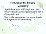 null assembly models criticisms5