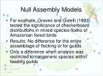 null assembly models3