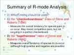 summary of r mode analysis3
