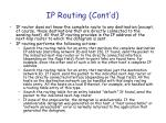 ip routing cont d1