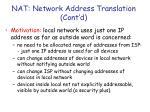 nat network address translation cont d
