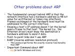 other problems about arp
