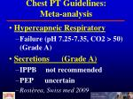 chest pt guidelines meta analysis