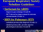european respiratory society nebulizer guidelines1