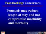 fast tracking conclusions1