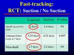 fast tracking rct suction no suction1