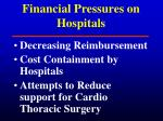 financial pressures on hospitals
