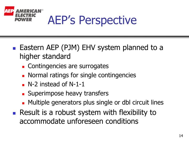 AEP's Perspective