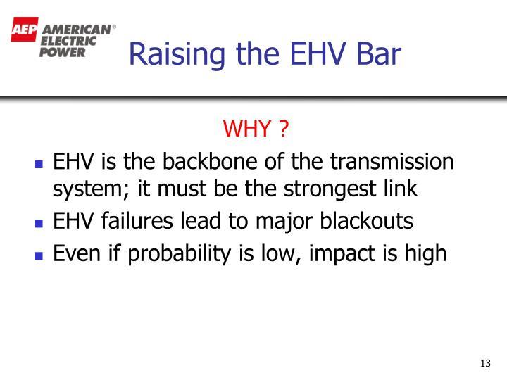 Raising the EHV Bar