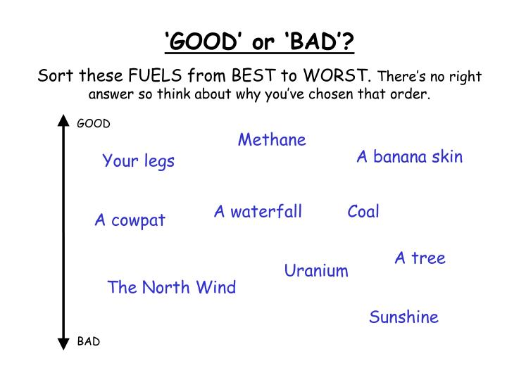'GOOD' or 'BAD'?