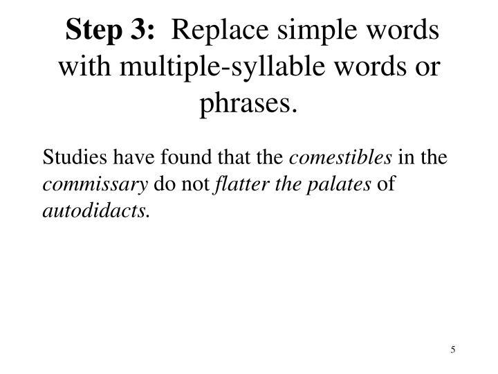 Step 3: