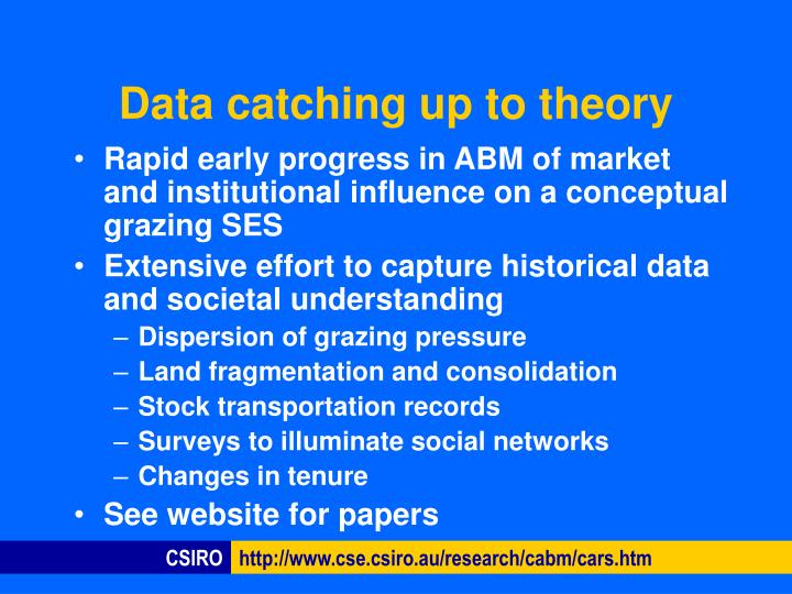 Data catching up to theory
