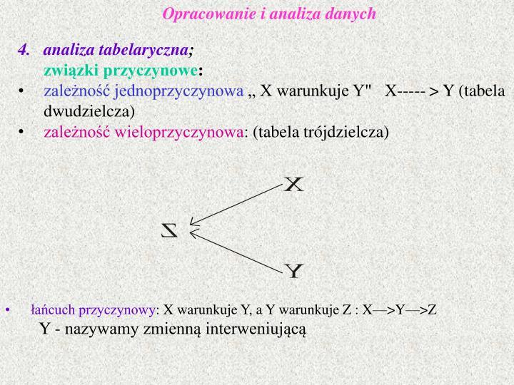 Opracowanie i analiza danych